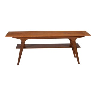 Danish Modern Teak Two-Tier Coffee Table For Sale