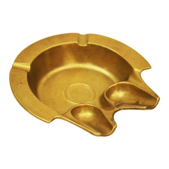 Austrian Art Deco Brass Ashtray, 1930s For Sale