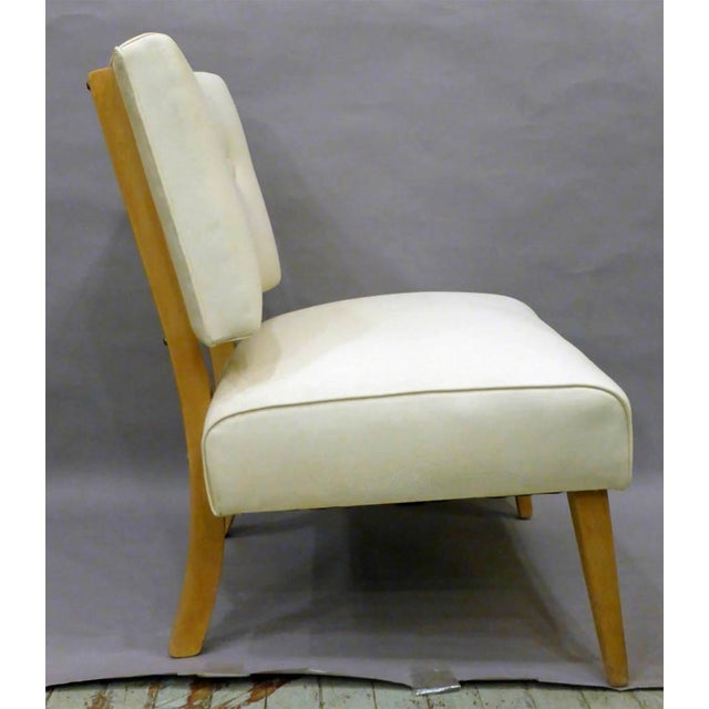 Hollywood Regency Vintage Mid-Century Slipper Chair For Sale - Image 3 of 6