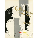 "Image of Original Lithograph by Georges Braque From ""Derriere Le Miroir No. 135-136"" (1962) For Sale"