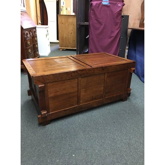 Wood Vintage Sliding Top Trunk Table For Sale - Image 7 of 10