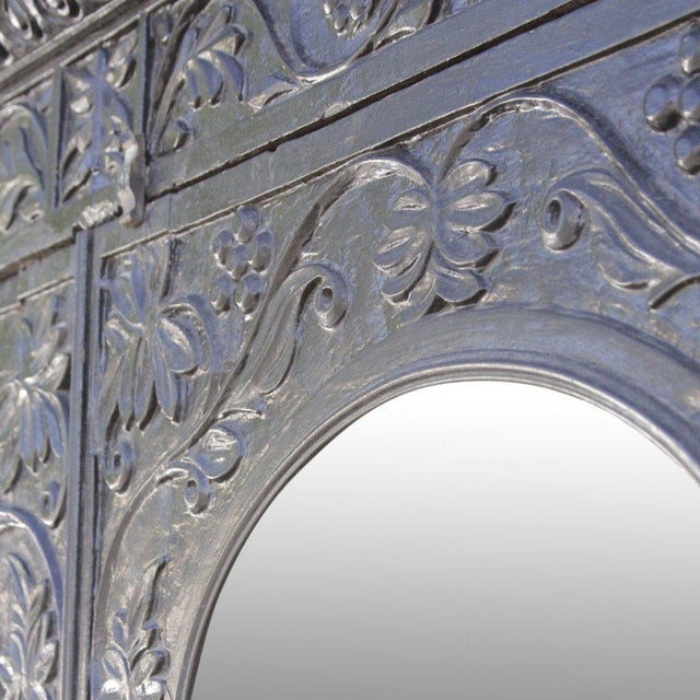 Anglo-Indian Carved Indo Portuguese Cabinet For Sale - Image 4 of 6