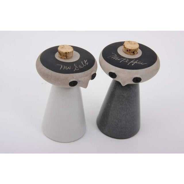 Contemporary Mr. Salt and Mrs. Pepper from Bennington Pottery by David Gil For Sale - Image 3 of 6