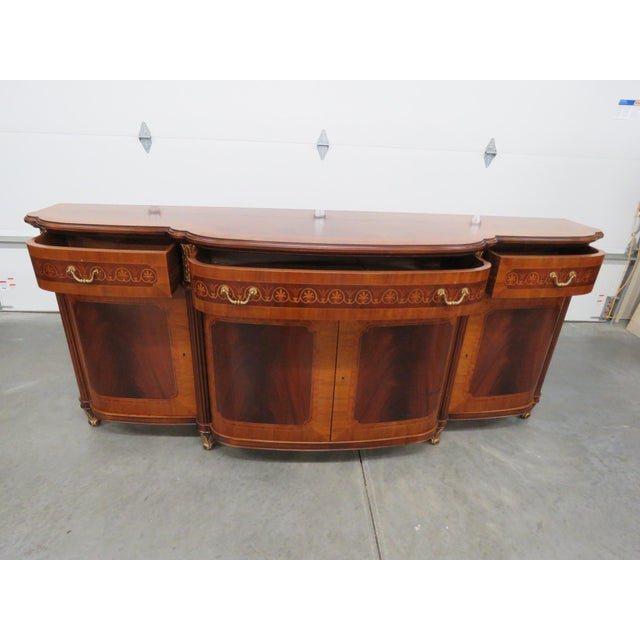 Art Deco Decorative Crafts Regency Style Inlaid Sideboard For Sale - Image 3 of 13