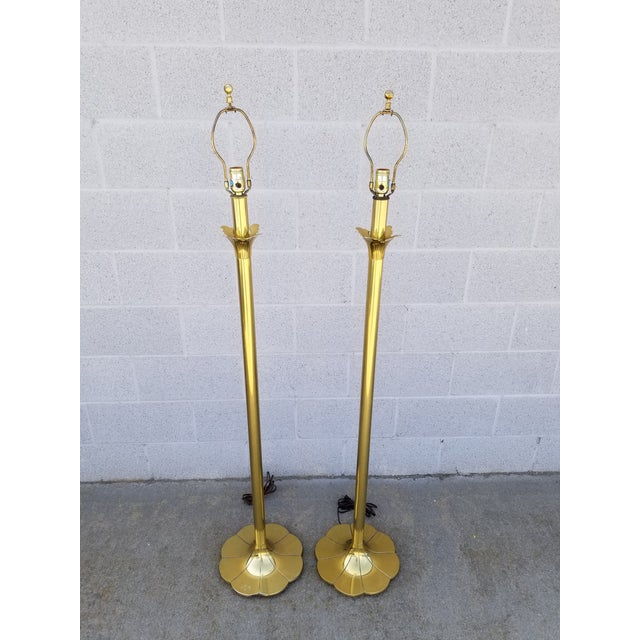 Stiffel Mid-Century Floor Lamps - a Pair For Sale In Los Angeles - Image 6 of 8