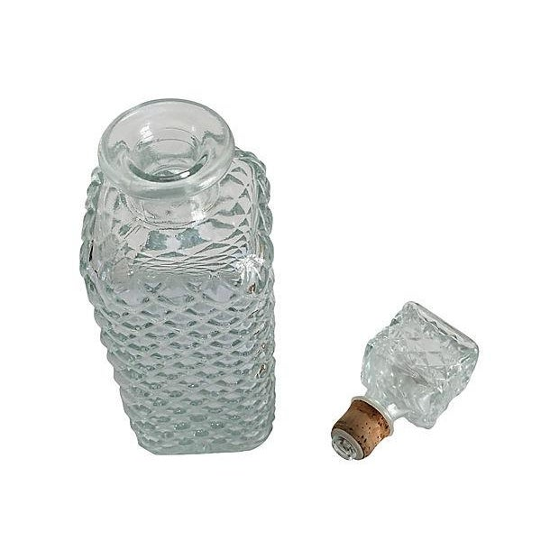 Vintage Mad Men Style Quilted Diamond Cut Decanter - Image 3 of 5