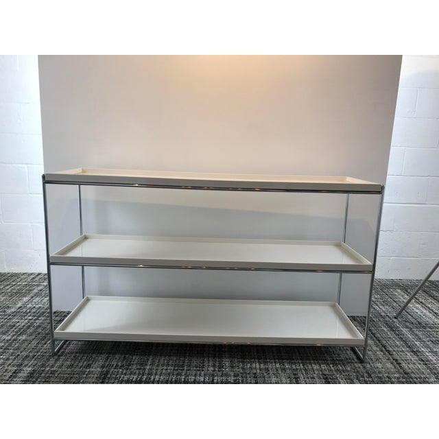 Used in an staging for an $11 million dollar penthouse in NYC. Never used. Design Piero Lissoni, 2002 Chrome plated steel...