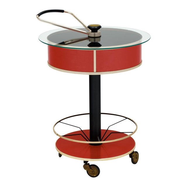 Italian Hydraulic Bar Cart For Sale