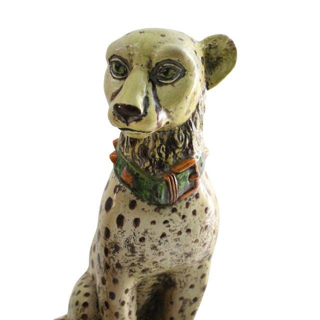 Terracotta Cheetah Statues - A Pair - Image 2 of 3