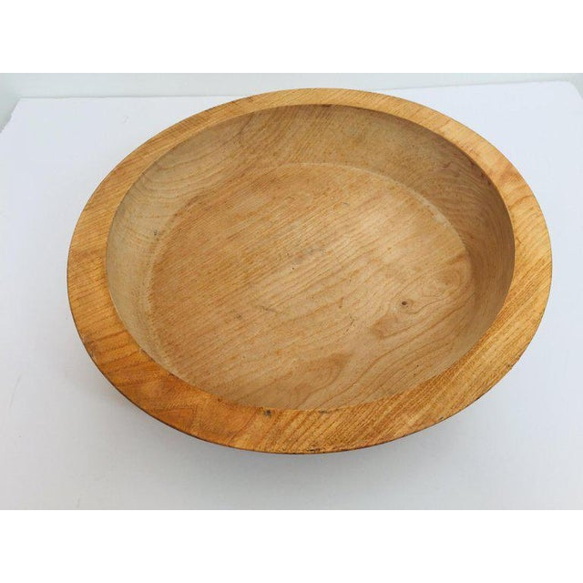 Massive vintage primitive bowl hand hewn large round wood dough bowl. This hand carved wood bowl was originally used for...