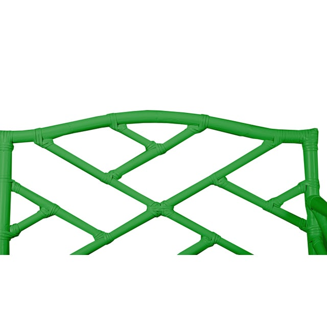 Not Yet Made - Made To Order Chippendale Bench - Bright Green For Sale - Image 5 of 6
