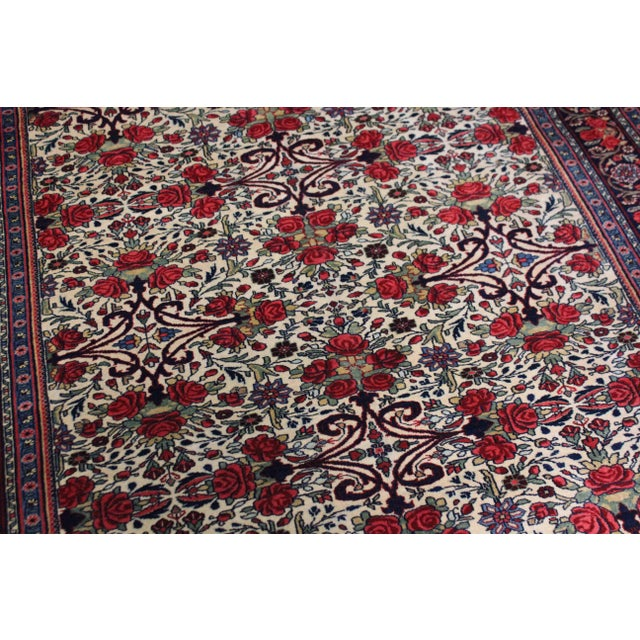 This stunning Vintage Bidgar rug was hand knotted in 1960's in Iran. Knotted with 75% wool and 25% cotton, dyed with...