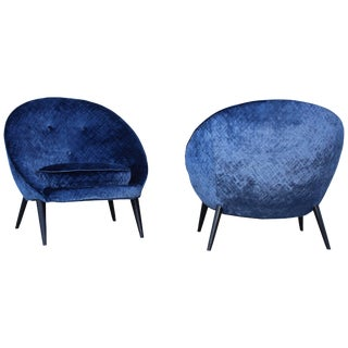Jean Royère Style Modernist Lounge Chairs For Sale