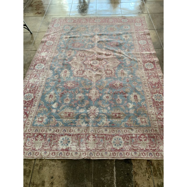 "1930's Persian Tabriz Rug - 10' 8"" X 7' 6"" For Sale - Image 4 of 5"