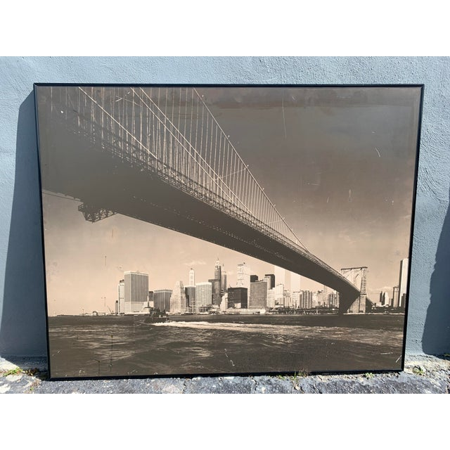1970s Lower Manhattan Cityscape Photograph, Framed For Sale - Image 11 of 11