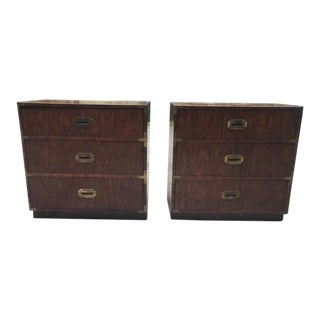 1970s Campaign Dixie Chests - a Pair For Sale