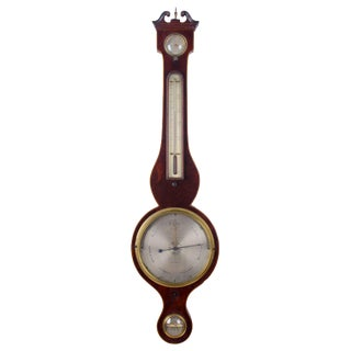 Francis Amadio Regency Mahogany Barometer For Sale