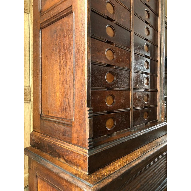 Brown Antique Ambergs File Cabinet For Sale - Image 8 of 11