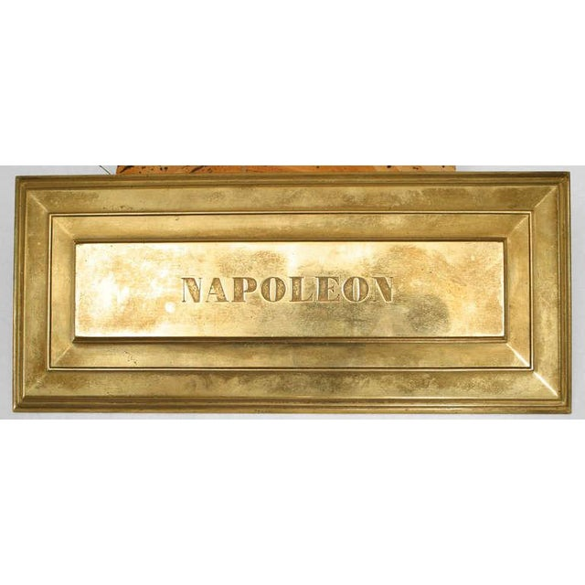 19th Century French Empire Inkwell in Memoriam of Napoleon I For Sale In New York - Image 6 of 8