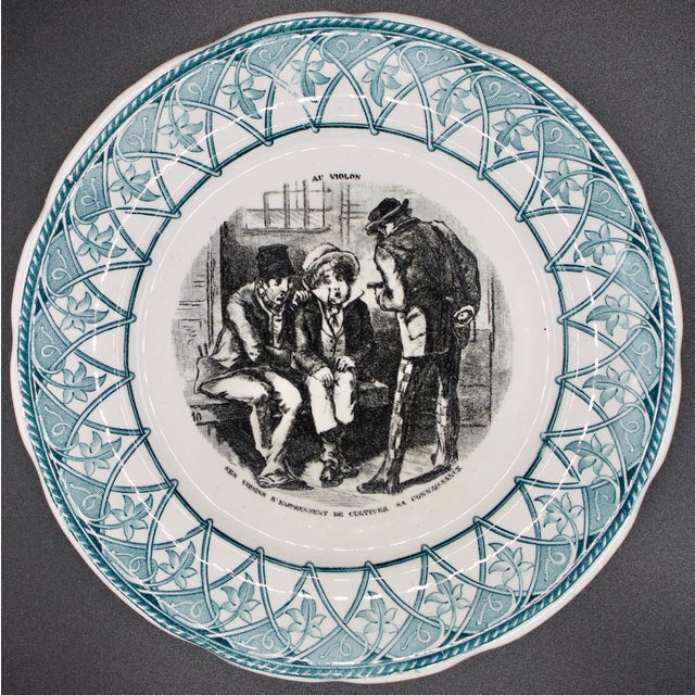 Early 20th Century French Plate For Sale - Image 10 of 10
