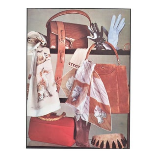 Matted Mid-Century Hermes Advertising Print For Sale