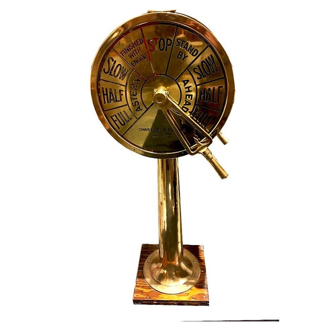 Early 20th Century Large Brass Telegraph by Charles Cory For Sale - Image 5 of 5