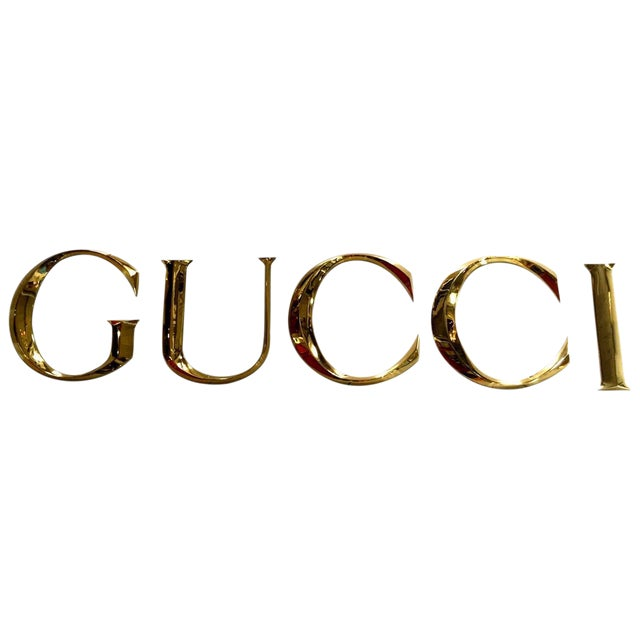 """Brass Letters Spelling """"GUCCI"""" - Image 1 of 5"""