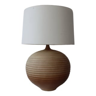 1960s Mid Century Ceramic Pottery Lamp For Sale
