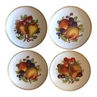 Vintage Mitterteich German Porcelain Salad Dessert Plates - Set of 4 For Sale