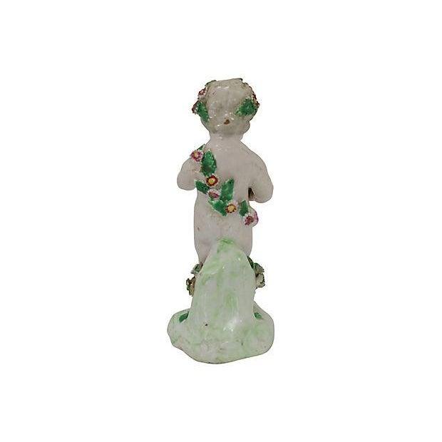 Derby Porcelain 18th-C Derby Porcelain Cherub - C. 1790 For Sale - Image 4 of 6