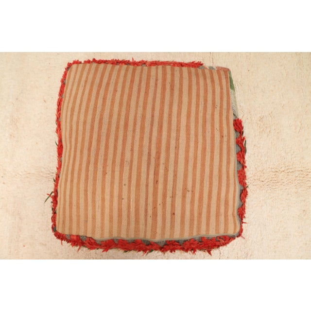 Textile Moroccan Vintage Unstuffed Pouf For Sale - Image 7 of 12