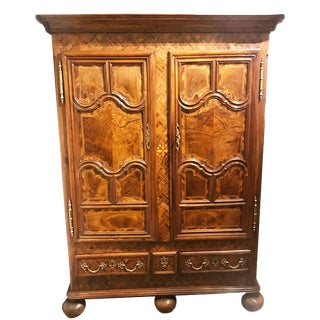 Very Fine 18th Century Armoire in Walnut, Alsace France, Circa 1780 For Sale