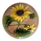 Image of 1900s Majolica Sunflower Platter by Villeroy & Boch For Sale