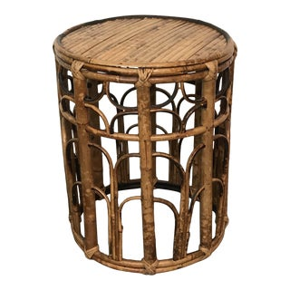 Vintage Bamboo Plant Stand For Sale