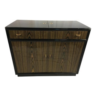 1960s Mid-Century Modern Woodencand Brass Server/Sideboard For Sale