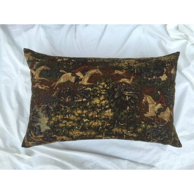 English Fox Hunt Linen Pillows - Pair - Image 8 of 8