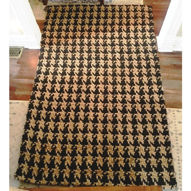 Classic Home Houndstooth Handspun Jute Rug - 5′ × 8′ For Sale - Image 11 of 12