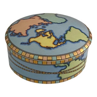 Mid Century Tiffany Round World Box For Sale