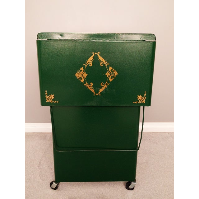 Cole Steel Green & Gold Typewriter Stand - Image 3 of 11