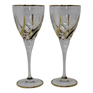 Venetian Murano Glass Stemware - a Pair For Sale