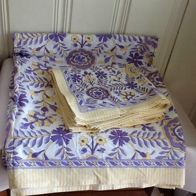 Tuscany Style Tablecloth & Napkins - Set of 8 - Image 8 of 10