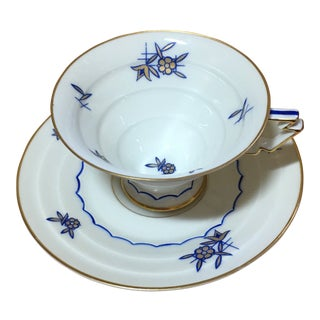 Vintage Weimar Porcelain Coffee Cup and Saucer For Sale