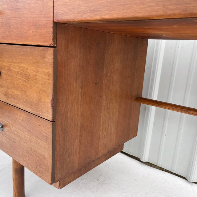 Wood 1960s Wood Mid-Century Modern Writing Desk For Sale - Image 7 of 13