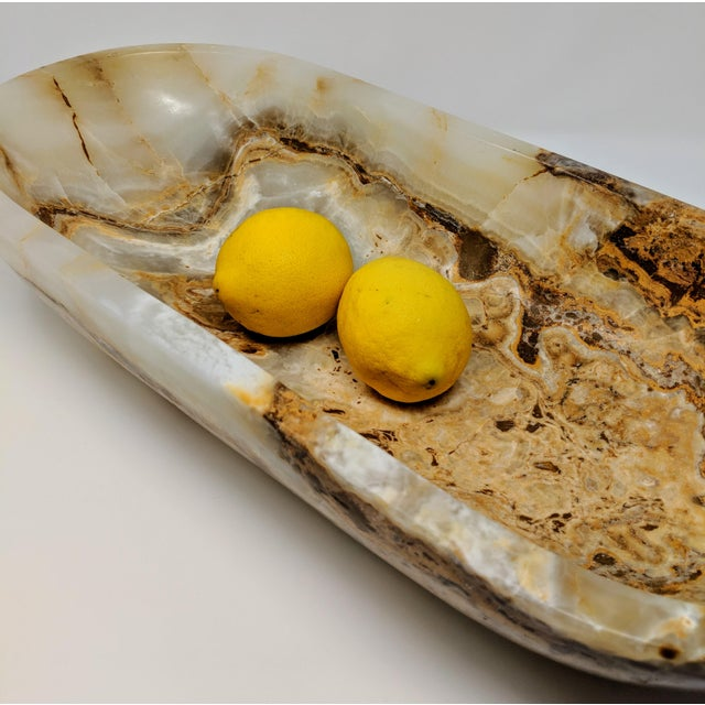 Early 21st Century Organic Modern Onyx Decorative Bowl For Sale - Image 5 of 13