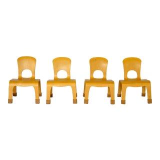 1970s Mid-Century Modern Community Children's Chairs - Set of 4