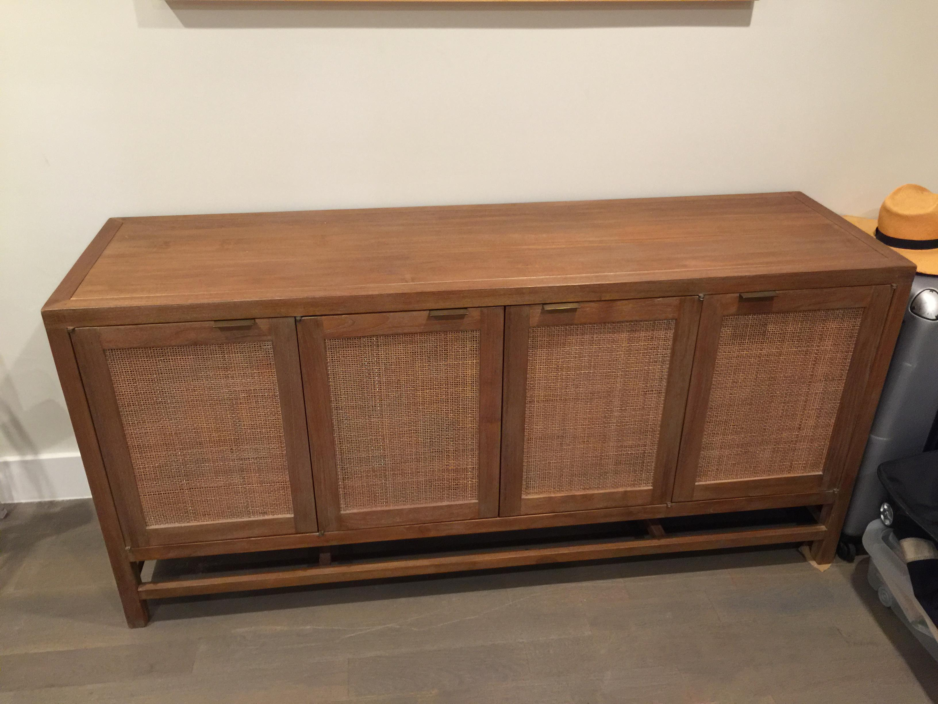 Crate And Barrel Teak Media Console   Image 8 Of 8