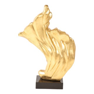Gold Gilt Flame Sculpture For Sale