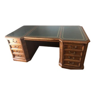 1980s Traditional Numbered Edition Executive Desk For Sale