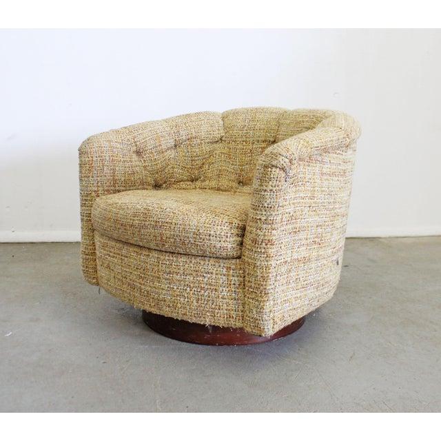 Mid-Century Modern Milo Baughman Thayer Coggin Swivel Rocker Lounge Chair For Sale - Image 13 of 13