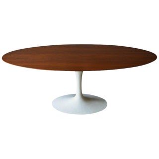 Walnut Oval Tulip Table by Eero Saarinen for Knoll, Circa 1960 For Sale